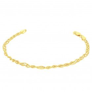 Bransoleta pozłacana bead BC 1585-100 DNA GOLD próba 925