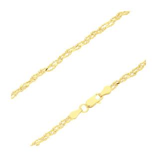 Łańcuszek pozłacany bead BC 1585-100 DNA GOLD próba 925