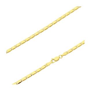 Łańcuszek pozłacany z blaszkami BC 1766-060 GOLD próba 925