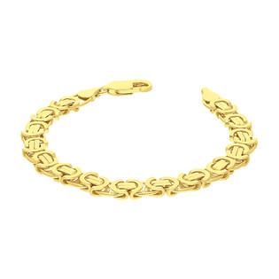 Bransoleta pozłacana o splocie bizantyna BC 1810-130 GOLD próba 925