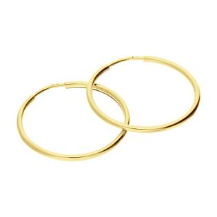 Kolczyki złote kółka szarniry 35mm BC92 próba 585