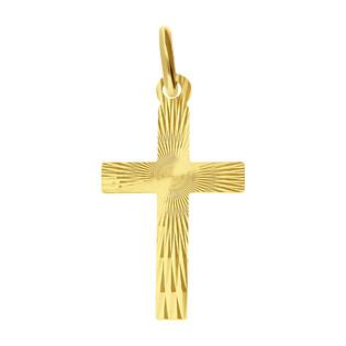 Krzyżyk złoty z ozdobnymi promieniami BC C-477 próba 585