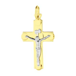 Krzyżyk złoty wizerunek Pana Jezusa BC C-601 próba 585
