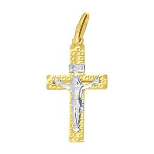 Krzyżyk złoty żłobiony z wizerunkiem Pana Jezusa BC C-774 próba 585