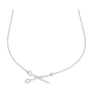 Naszyjnik srebrny z nożyczkami/anker HS700 próba 925