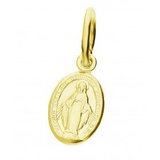 Medalik srebrny pozłacany z wizerunkiem Matki Boskiej Niepokalanej NI CI1329 GOLD próba 925