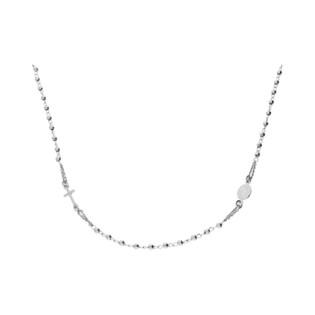 Naszyjnik srebrny różaniec paciorki grawerowane NI ROGDGD03 ROD próba 925