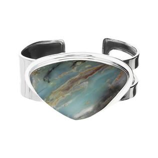 Bransoleta srebrna bangle opal Andyjski Peru GX MINERALS GX-opand-4 bangle próba 925
