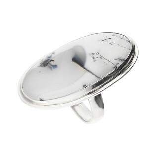 Pierścionek srebrny agat dendrytowy Turcja GX MINERALS GX-agden-22 próba 925