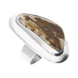 Pierścionek srebrny zopalizowane drzewo Węgry-Słowac GX MINERALS GX-drz-4 próba 925