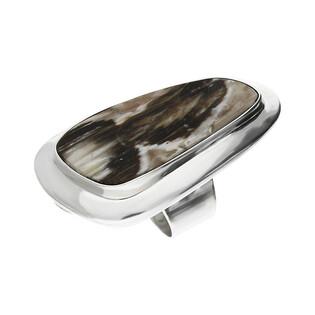 Pierścionek srebrny zopalizowane drzewo Węgry-Słowac GX MINERALS GX-drz-5 próba 925