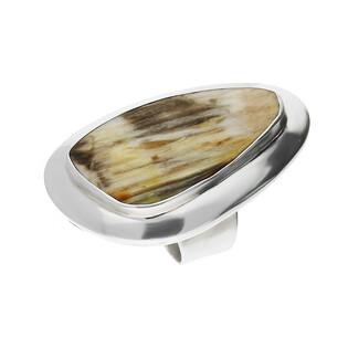 Pierścionek srebrny zopalizowane drzewo Węgry-Słowac GX MINERALS GX-drz-7 próba 925