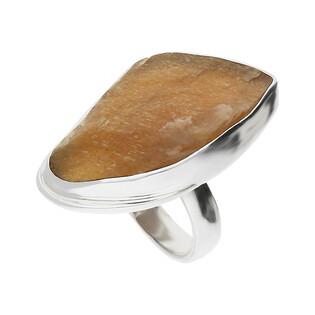 Pierścionek srebrny kamień słoneczny Afryka GX MINERALS GX-kmsł-1 próba 925
