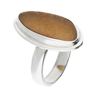Pierścionek srebrny kamień słoneczny Afryka GX MINERALS GX-kmsł-2 próba 925
