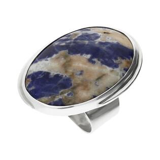 Pierścionek srebrny sodalit Afryka GX MINERALS GX-sod-6 próba 925