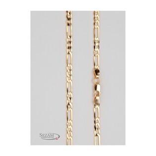 Łańcuszek złoty dla mężczyzny typu figaro z pełnego złota nr TG GALD 3+1 100