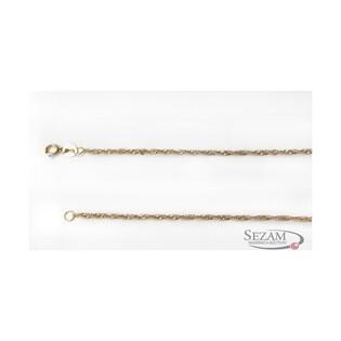 Łańcuszek złoty typu singapur pełny nr SIDD 022 próba 585