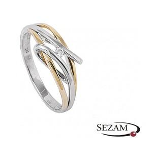Pierścionek zaręczynowy z brylantem BRAID+Mirage nr BU 546202 próba 375