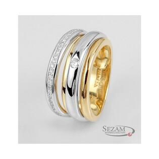 Pierścionek zaręczynowy z diamentami BRAID+LINE nr BU 535916 próba 585
