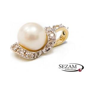 Zawieszka złota z perłą i cyrkoniami nr FU 0284 próba 585