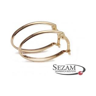 Kolczyki złote owale nr AR 0002-4-L próba 585