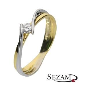 Pierścionek złoty zaręczynowy z brylantem MARIAGE  nr DI 223/05 próba 585