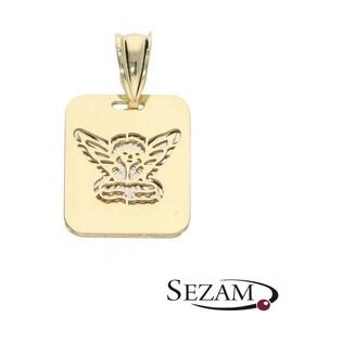 Medalik złoty z aniołkiem nr AR 201277 próba 333