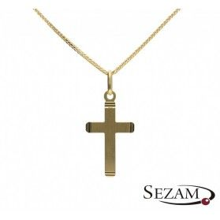 Krzyżyk złoty z matem nr FL FL117 próba 585