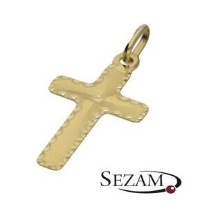 Krzyżyk złoty grawerowany nr FL FL125 próba 585