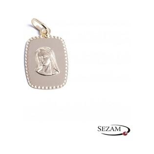 Medalik złoty z Matką Boską nr CB CPP/1-M/6 próba 585