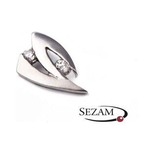 Komplet biżuterii z białego złota nr HK 15900 próba 585