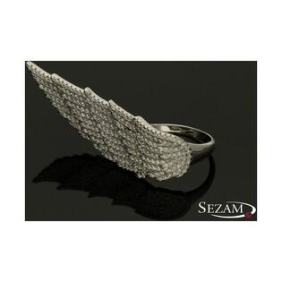 Pierścień ze srebra ze skrzydłem nr DV D4043A0055