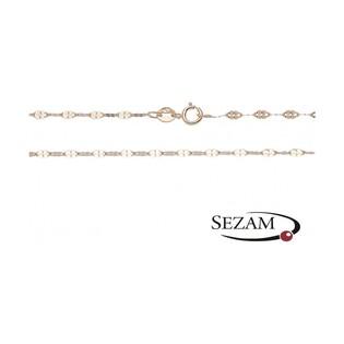 Łańcuszek złoty typu blaszka/koniczyna nr FL2K 040 próba 585