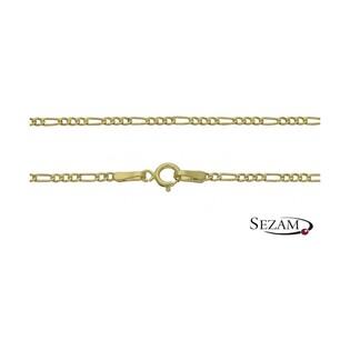 Łańcuszek złoty figaro dmuchany nr ALV 3+1 040-dm próba 585
