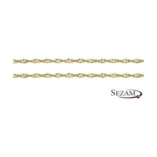 Łańcuszek złoty typu singapur nr G2 SD 028 próba 585