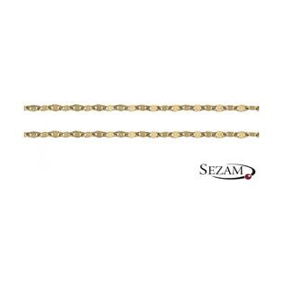 Łańcuszek złoty typu blaszka nr FPDBC 040 próba 585