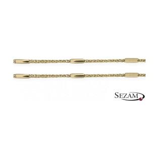 Łańcuszek damski lisi ogon nr SPG3D 022+kreska próba 585