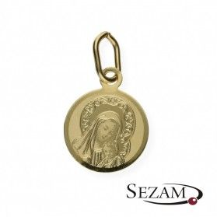Medalik złoty Matka Boska z Dzieciątkiem nr OP69 próba 585