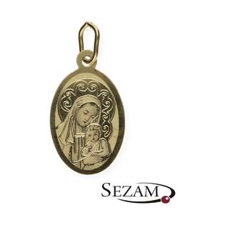 Medalik złoty Matka Boska z Dzieciątkiem Jezus nr OP70 próba 333