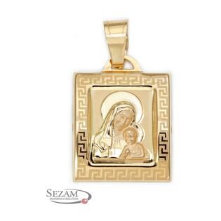 Medalik złoty Matka Boska z Dzieciątkiem nr PF27 próba 333