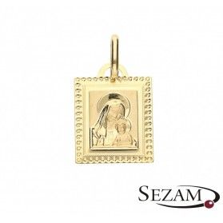 Medalik złoty Matka Boska z Dzieciątkiem nr OP80 próba 333
