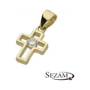 Krzyżyk złoty z cyrkonią nr AR 2358-FCZ próba 333