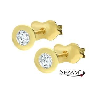 Kolczyki złote sztyfty z cyrkonią nr AR 4233-FCZ próba 585