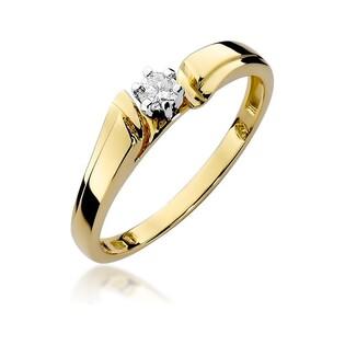 Pierścionek zaręczynowy z brylantem Passion nr BE W-300 złoto 14 karat