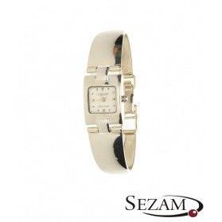 Zegarek damski srebrny na bransolecie nr KO 02-07 kwadrat