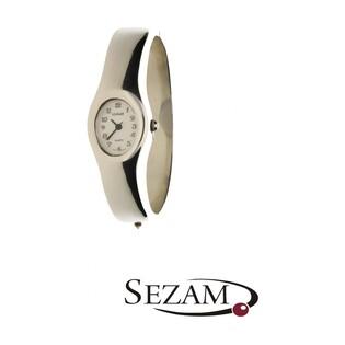 Zegarek srebrny damski na bransolecie bangla nr KO 01-25 owal