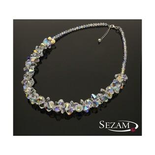Naszyjnik srebrny z kryształami Swarovski nr RD 376-1 kolekcja Grace