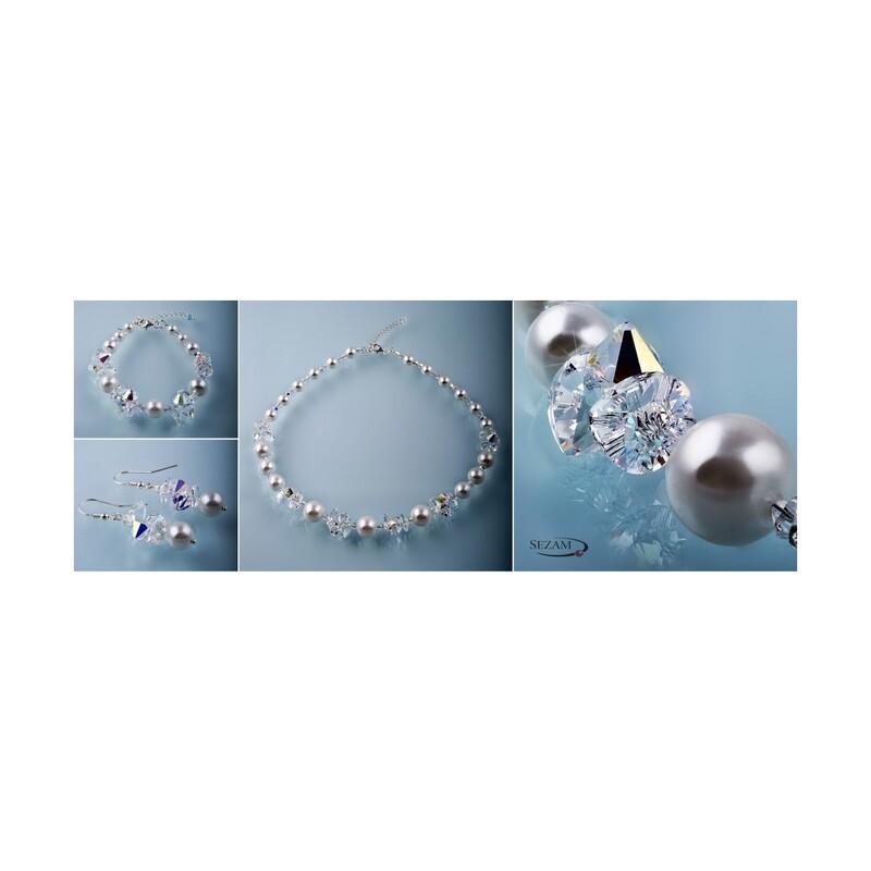 Kolczyki srebrne z kryształami Swarovski kolekcja Grace nr RD 408-1
