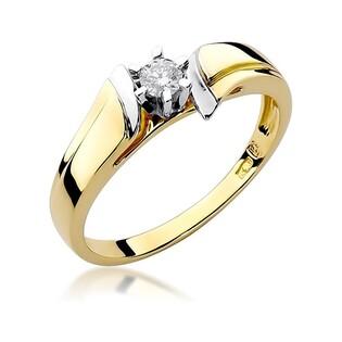 Pierścionek złoty zaręczynowy PASSION z diamentem BE W-300B próba 585 Sezam - 1