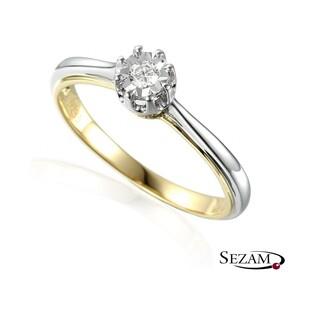 Pierścionek złoty zaręczynowy One Love nr AW 55119 YW